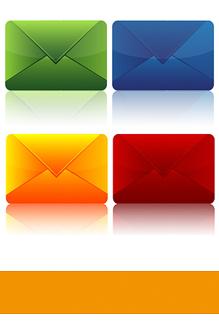 Orlando-Office – Moderne Geschäftsbriefe, Briefumschläge in diverse Farben
