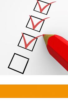Orlando-Office – Office Coaching, Häkchen setzen mit rotem Stift