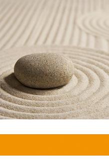 Orlando-Office - japanischer Garten mit Stein, Selbstorganisation und Zeitmanagement