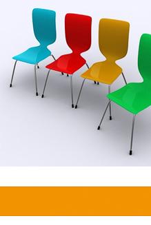 Orlando-Office – Workshops, Raum mit leere Stühle